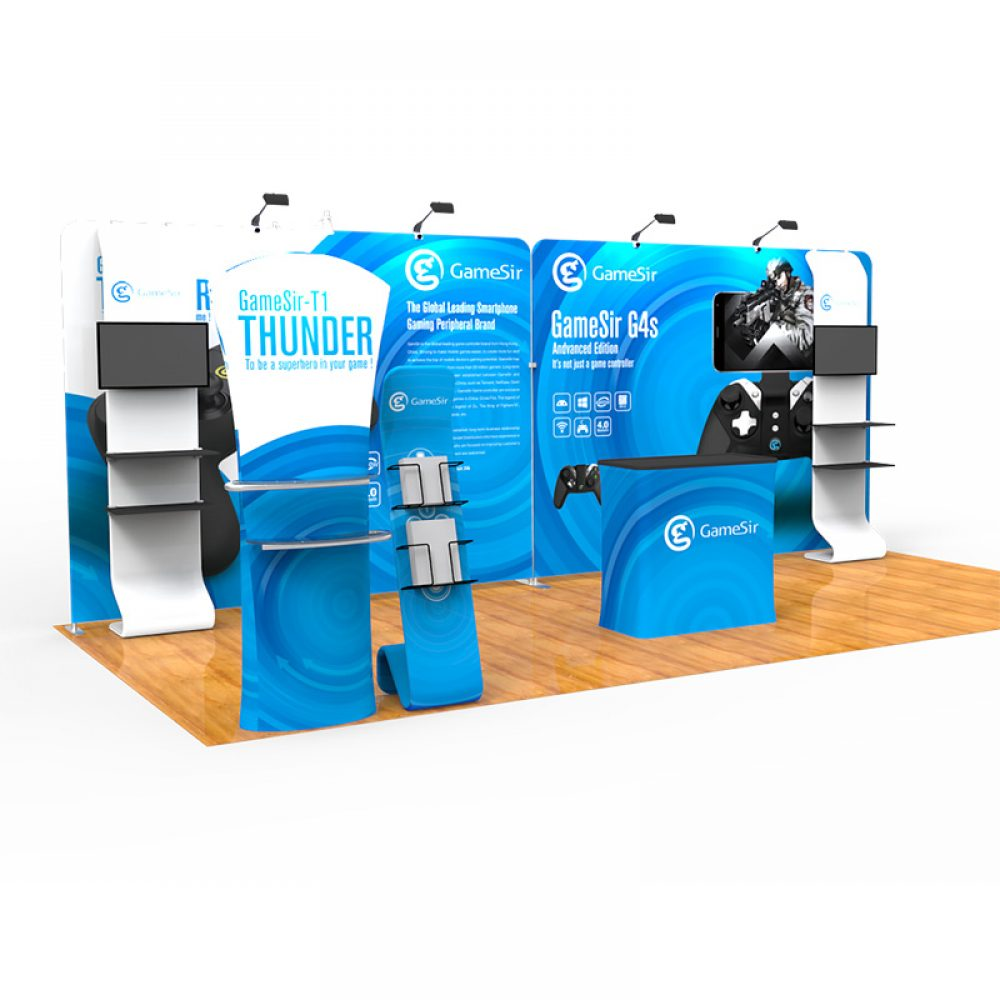 Fabric Exhibition Stand Game : Tension fabric 20ft exhibition kit pged37 exhibition displays
