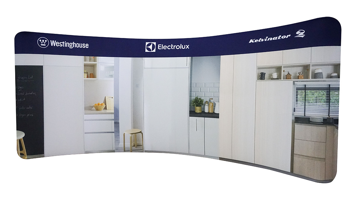 Fabric Exhibition Stand Yet : Tension fabric curved ft pgtf tension fabric exhibition displays